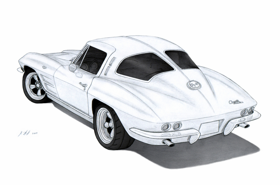 Chevrolet corvette clipart banner royalty free stock Car, Drawing, Sketch png clipart free download banner royalty free stock