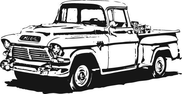 Chevrolet pickup truck side view free clipart clipart transparent download 1950\'s GMC Pick-Up Vector clip arts, clip art - ClipartLogo ... clipart transparent download