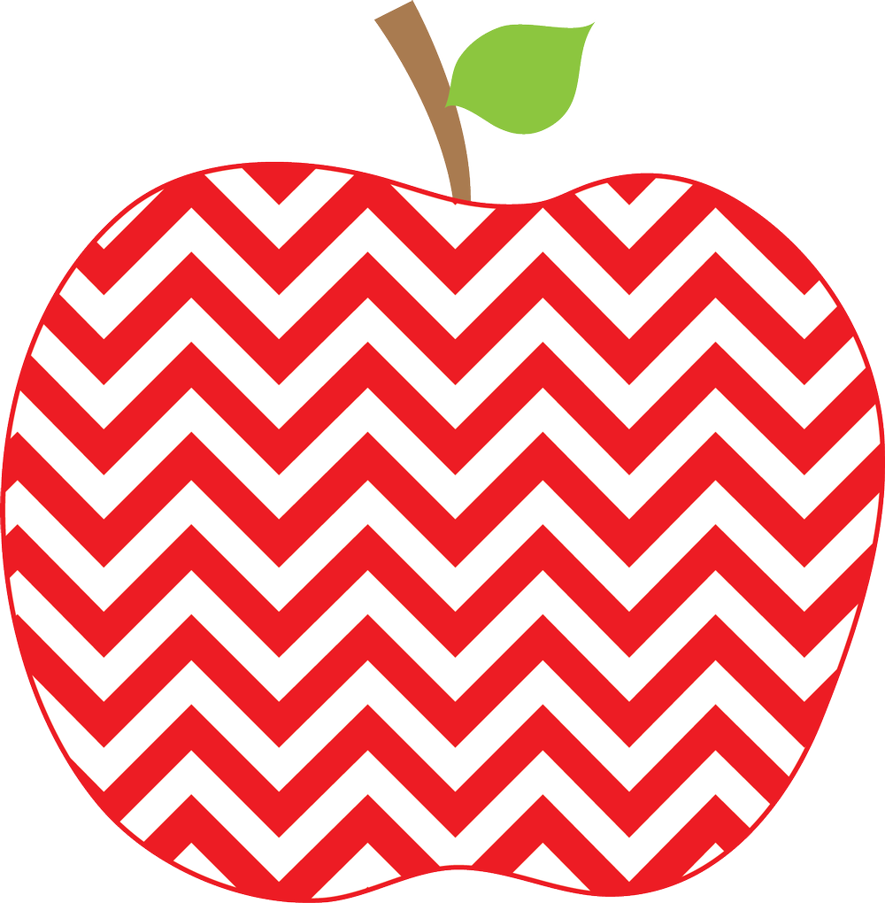 Patterned apple clipart graphic free download Mrs. Wood graphic free download