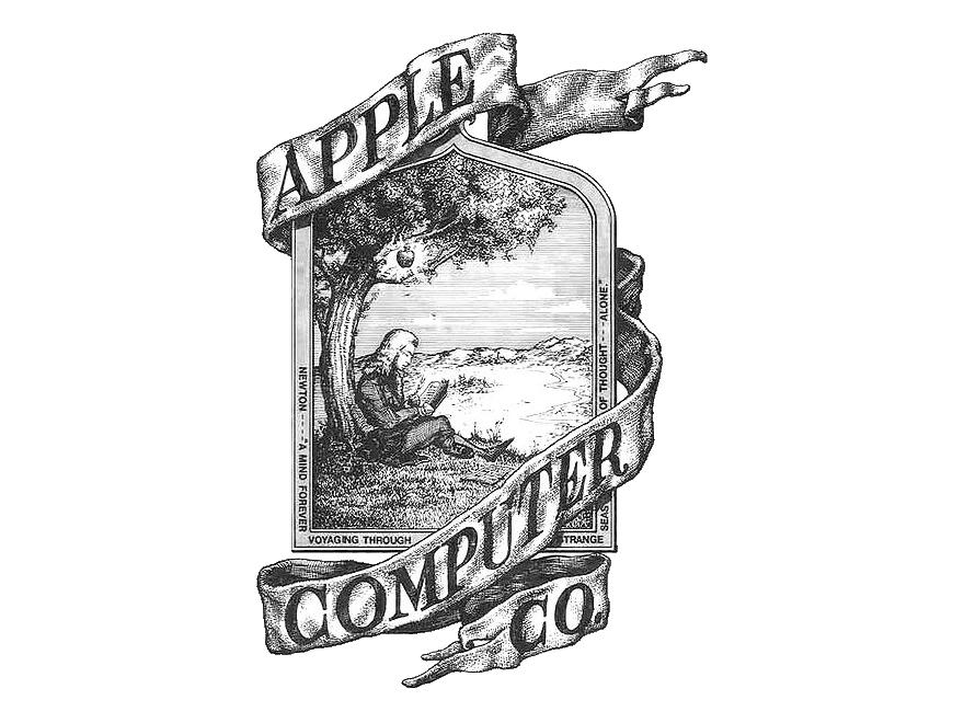 Chevron apple monogram clipart jpg royalty free download Apple logo 1976 - Logok jpg royalty free download