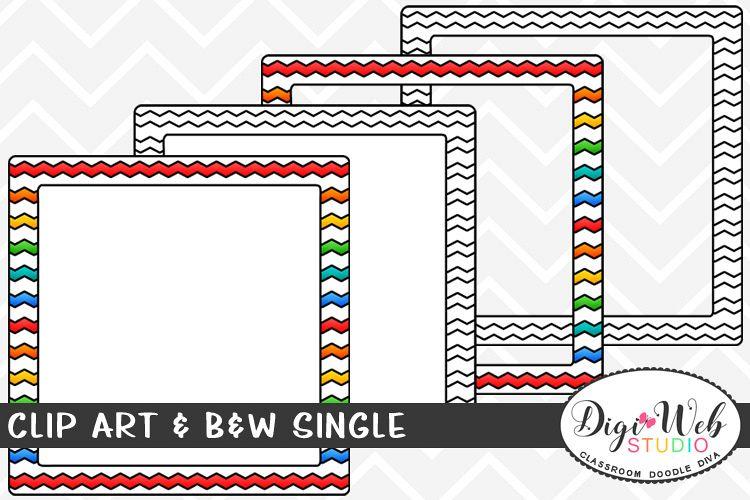 Chevron fill clipart free download Clip Art & B&W Single - Colorful Chevron Frame free download