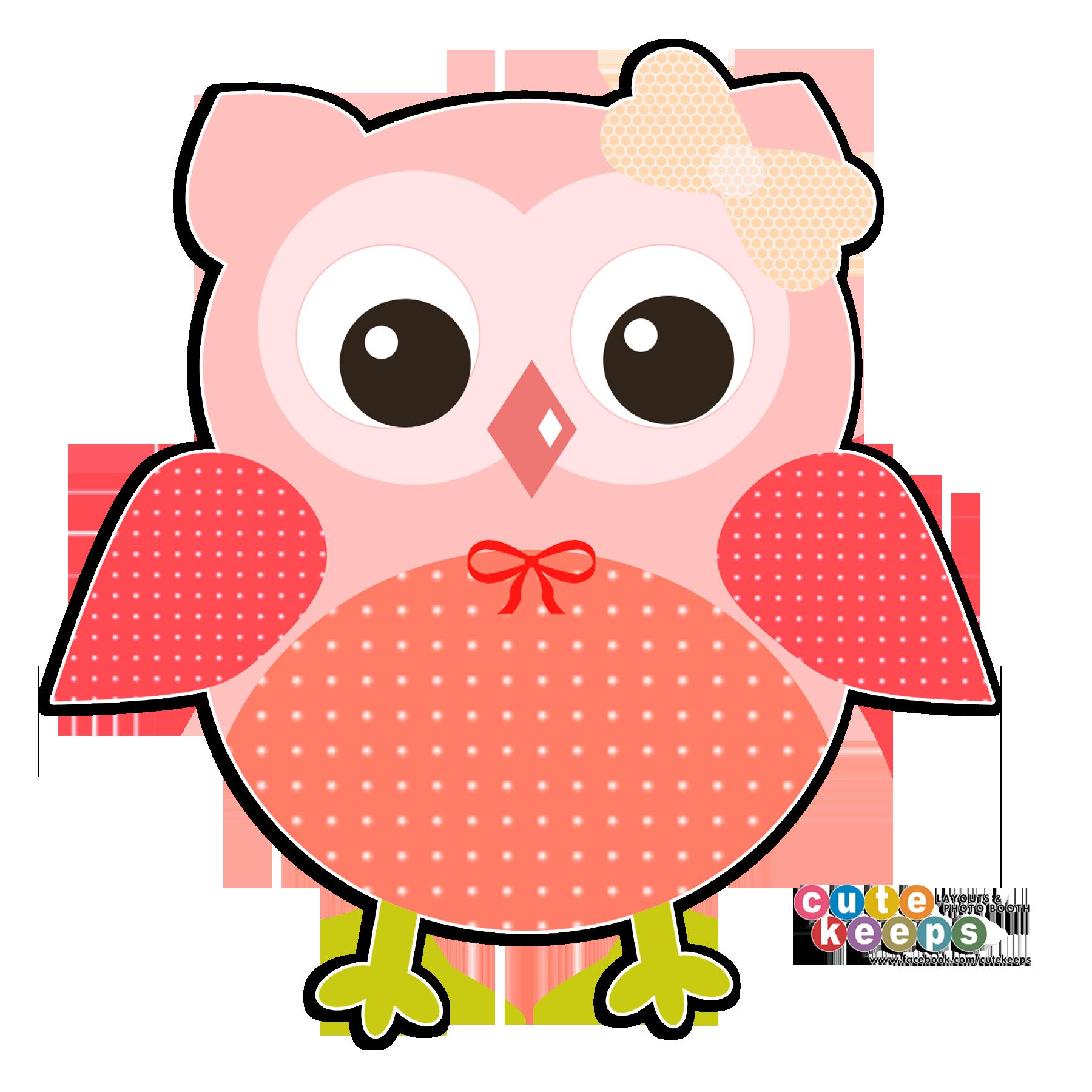 Cute peach orange owl. Cu watercolor halloween clipart