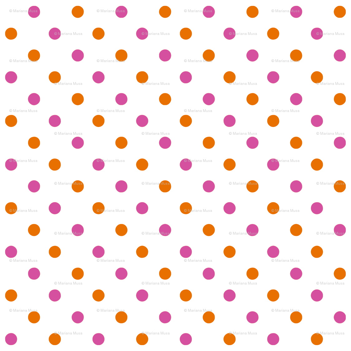 Chevron green orange and pink pumpkin clipart clip transparent download Fun Flowers pink orange Polka Dots fabric - floating_lemons ... clip transparent download