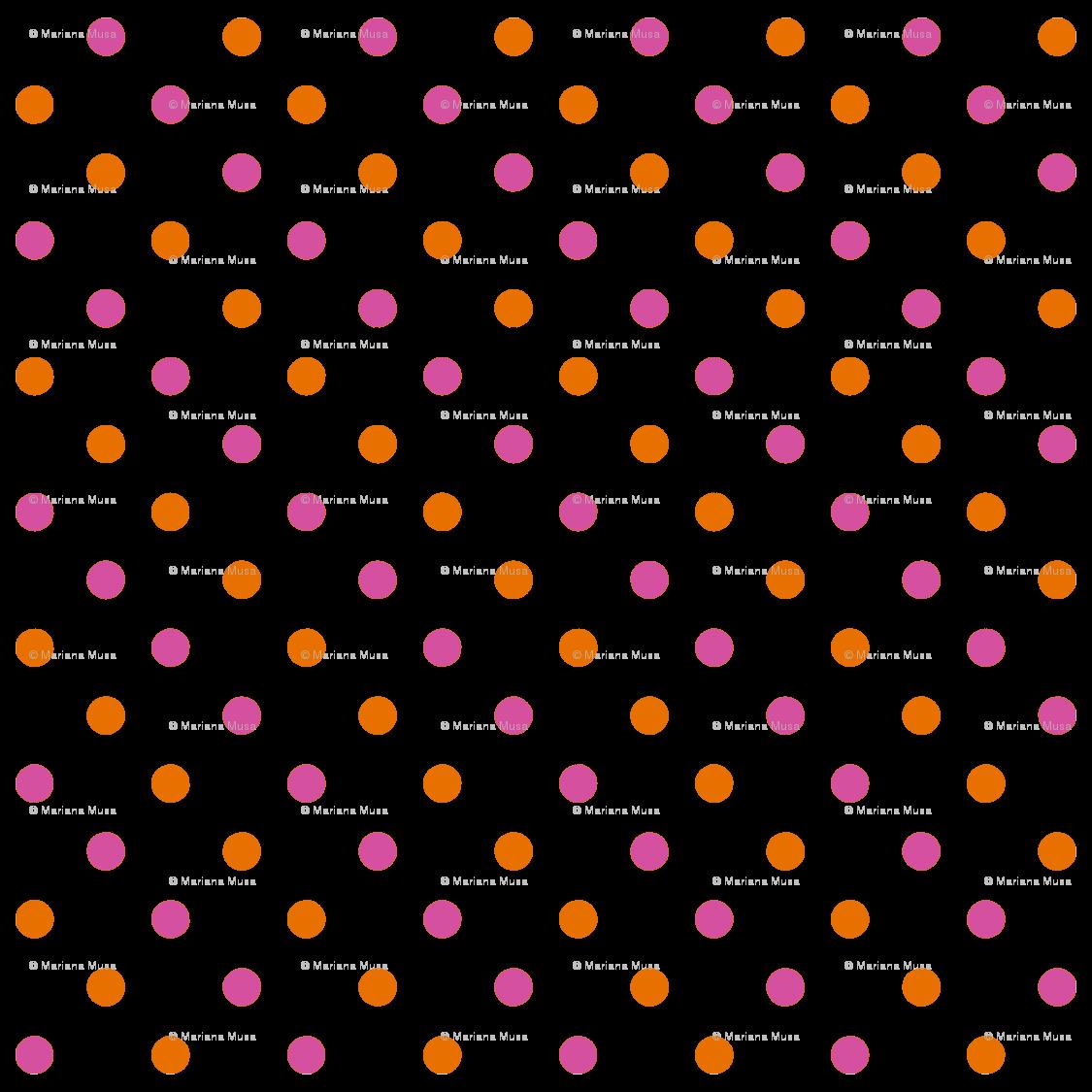 Polka dot bulldog basketball clipart vector free library Fun Flowers pink orange Polka Dots fabric - floating_lemons ... vector free library