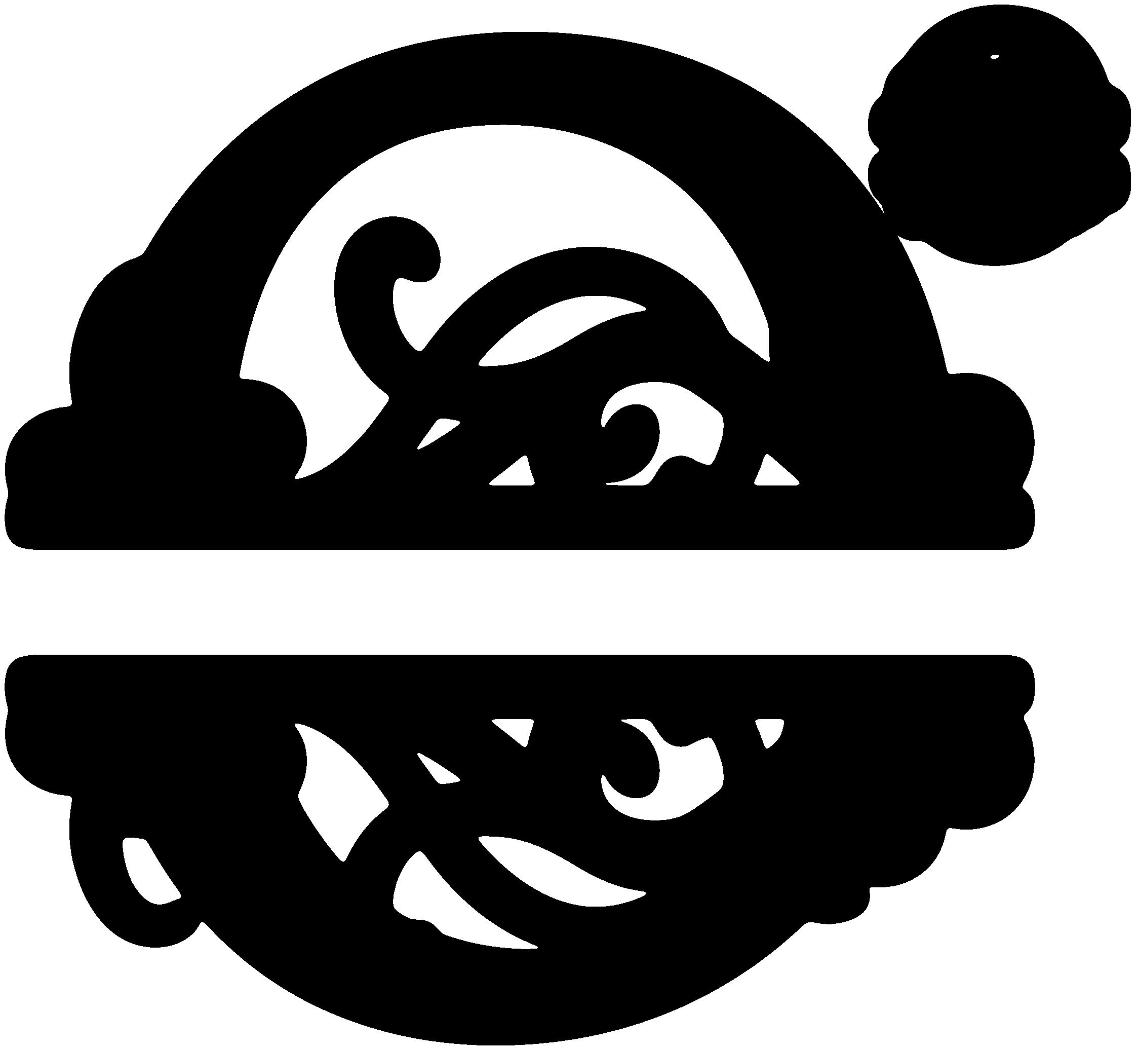 Chevron split pumpkin clipart png black and white stock O