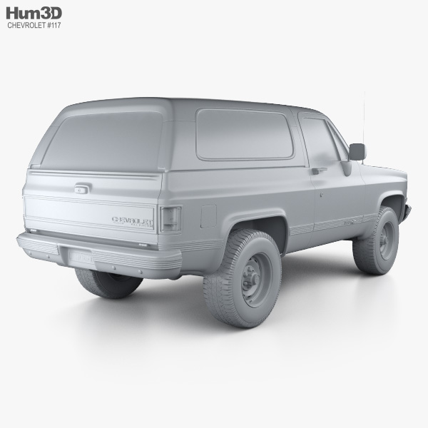 Chevy blazer clipart png royalty free download Chevrolet Blazer (K5) 1989 3D model png royalty free download