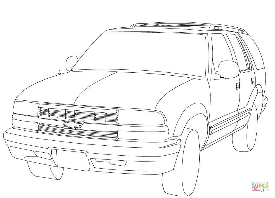 Chevy blazer clipart clipart freeuse stock Chevrolet Blazer coloring page | Free Printable Coloring Pages clipart freeuse stock