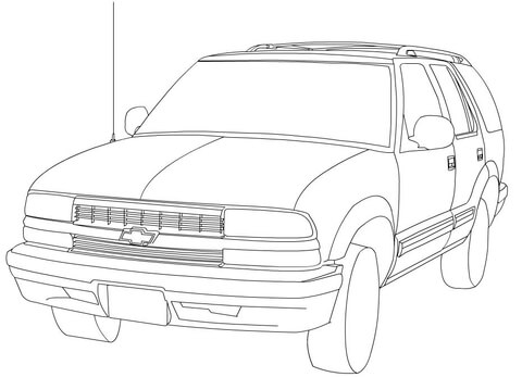 Chevy blazer clipart clipart free Chevrolet Blazer coloring page | Free Printable Coloring Pages clipart free
