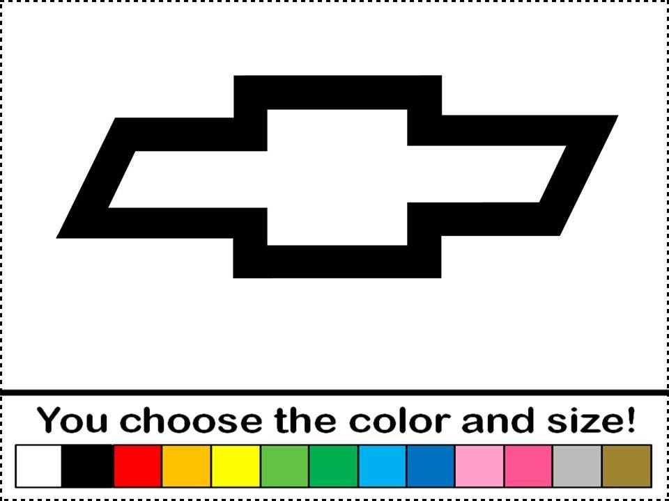 Chevy bowtie clipart graphic for cutter