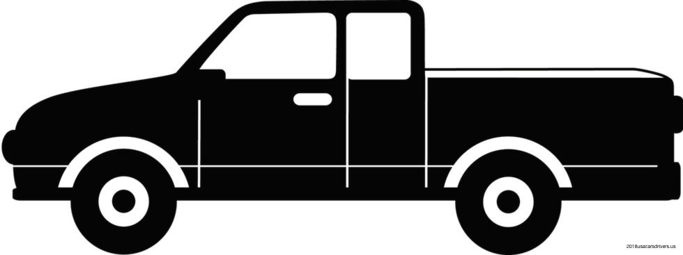 Pickup truck with pumpkin clipart