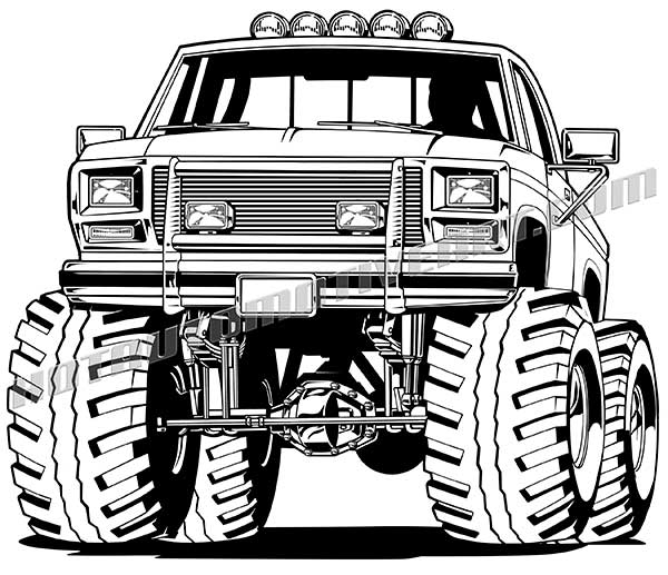 Chevy monster truck clipart clip black and white stock Chevy Truck Clipart | Free download best Chevy Truck Clipart on ... clip black and white stock
