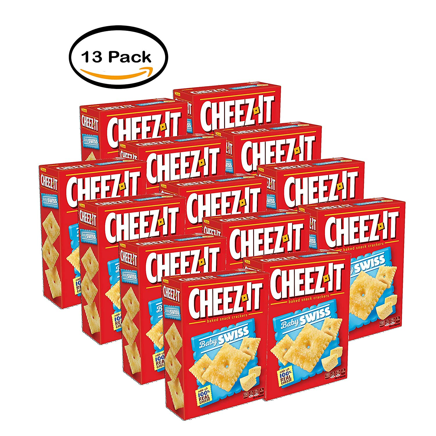 Chez crackers clipart vector library download Amazon.com: PACK OF 13 - Cheez-It Baby Swiss Baked Snack Crackers ... vector library download