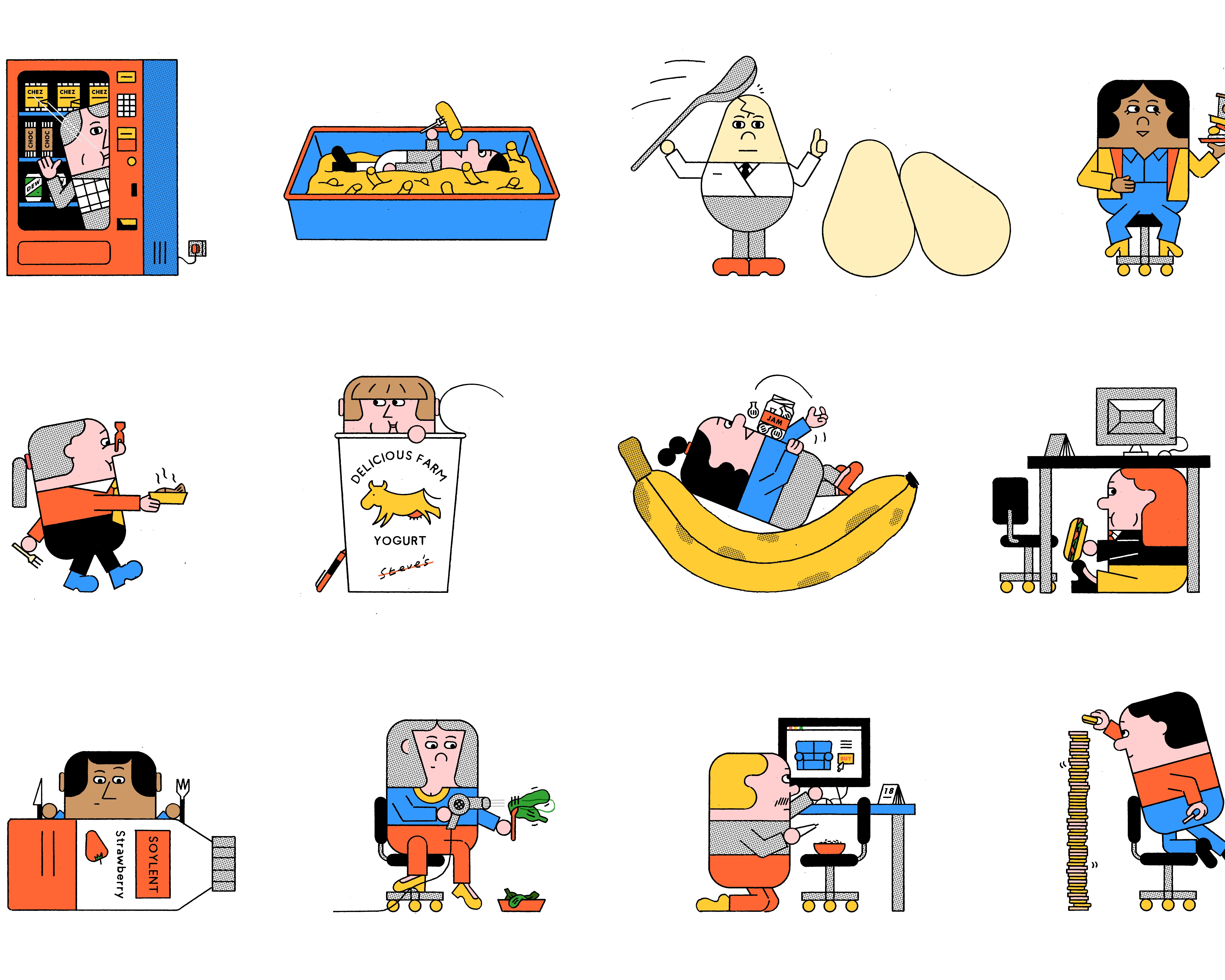 Chez crackers clipart royalty free stock Your September Horoscope: Which Sad Desk Lunch Is Your Fate?   Bon ... royalty free stock