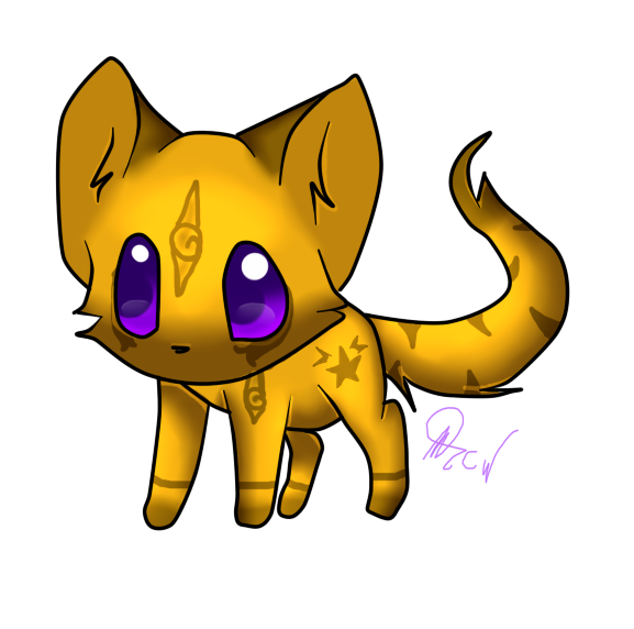 Chibi cat clipart jpg library download My Warrior Cat - Chibi Cloestar by Celestia-Cadence on DeviantArt jpg library download