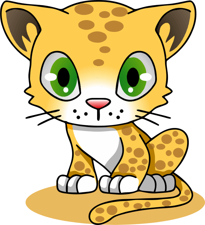 Chibi cat clipart jpg transparent library Clipart - Cartoon Leopard jpg transparent library