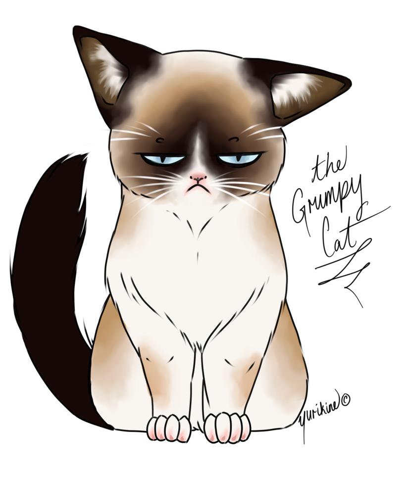 Chibi cat clipart clip art black and white library Grumpy Cat Drawing at GetDrawings.com | Free for personal use Grumpy ... clip art black and white library