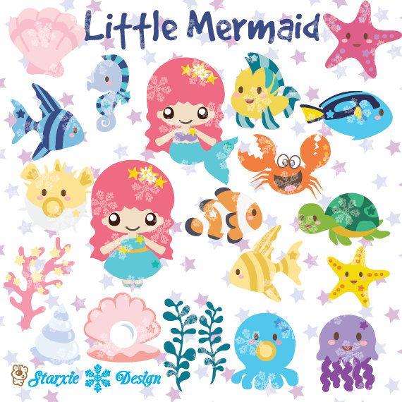 Chibi clipart pack clip art stock Cute chibi mermaid Clipart under the sea Clipart cute mermaid ... clip art stock