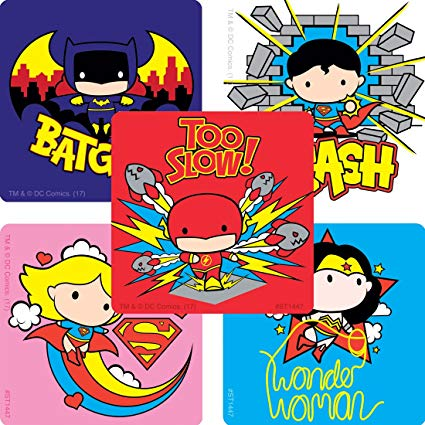 Chibi clipart pack clip art free download Amazon.com: Justice League Chibi Stickers - Prizes 100 per Pack ... clip art free download