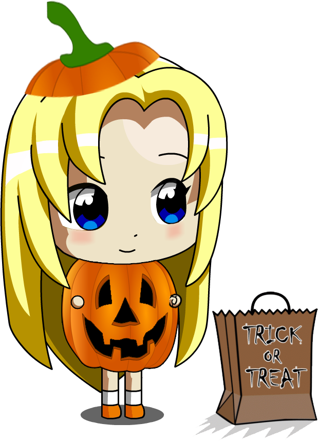 Chibi pumpkin clipart vector royalty free stock Chibi Ucogi Pumpkin girl by jimmy500 on DeviantArt vector royalty free stock