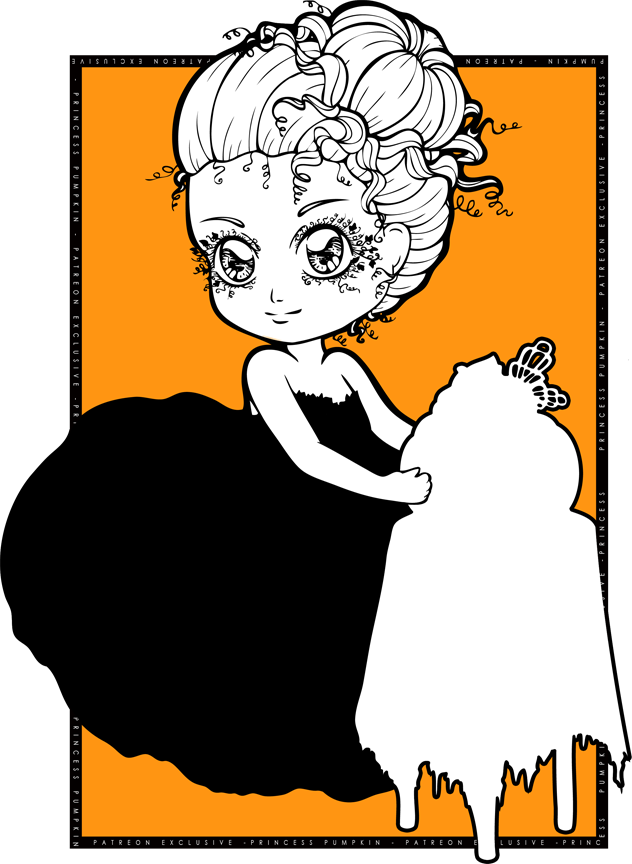 Chibi pumpkin clipart image stock Princess Pumpkin Chibi by Chibivi-Linearts on DeviantArt image stock