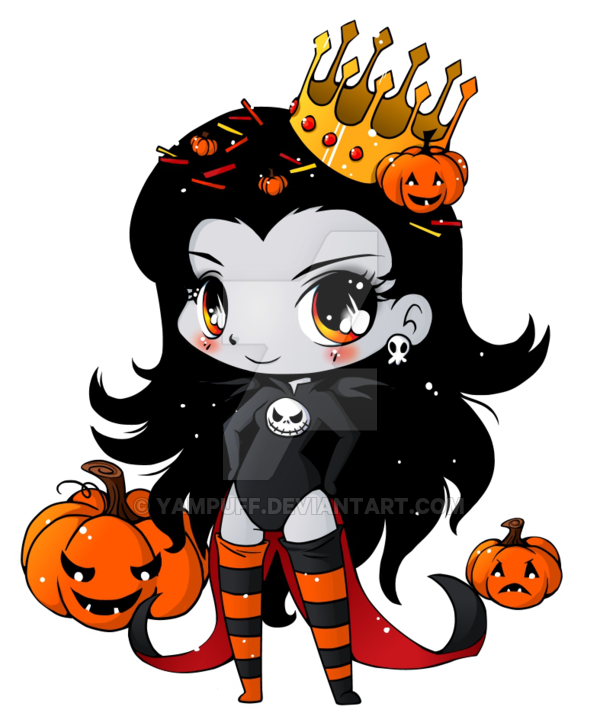 Chibi pumpkin clipart clip black and white download Pumpkin Queen Minichibi Commish by YamPuff on DeviantArt clip black and white download