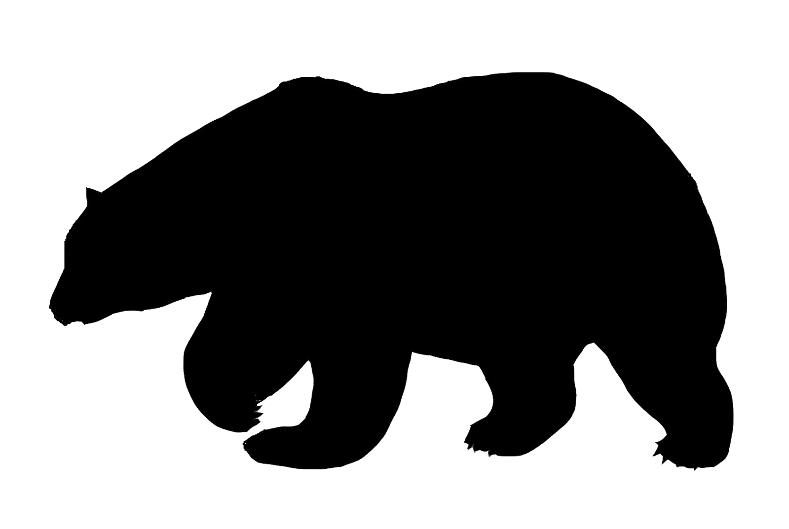 Chic bear outdoor clipart black and white black and white download Polar bear | Polar bears | Bear silhouette, Bear, Silhouette black and white download