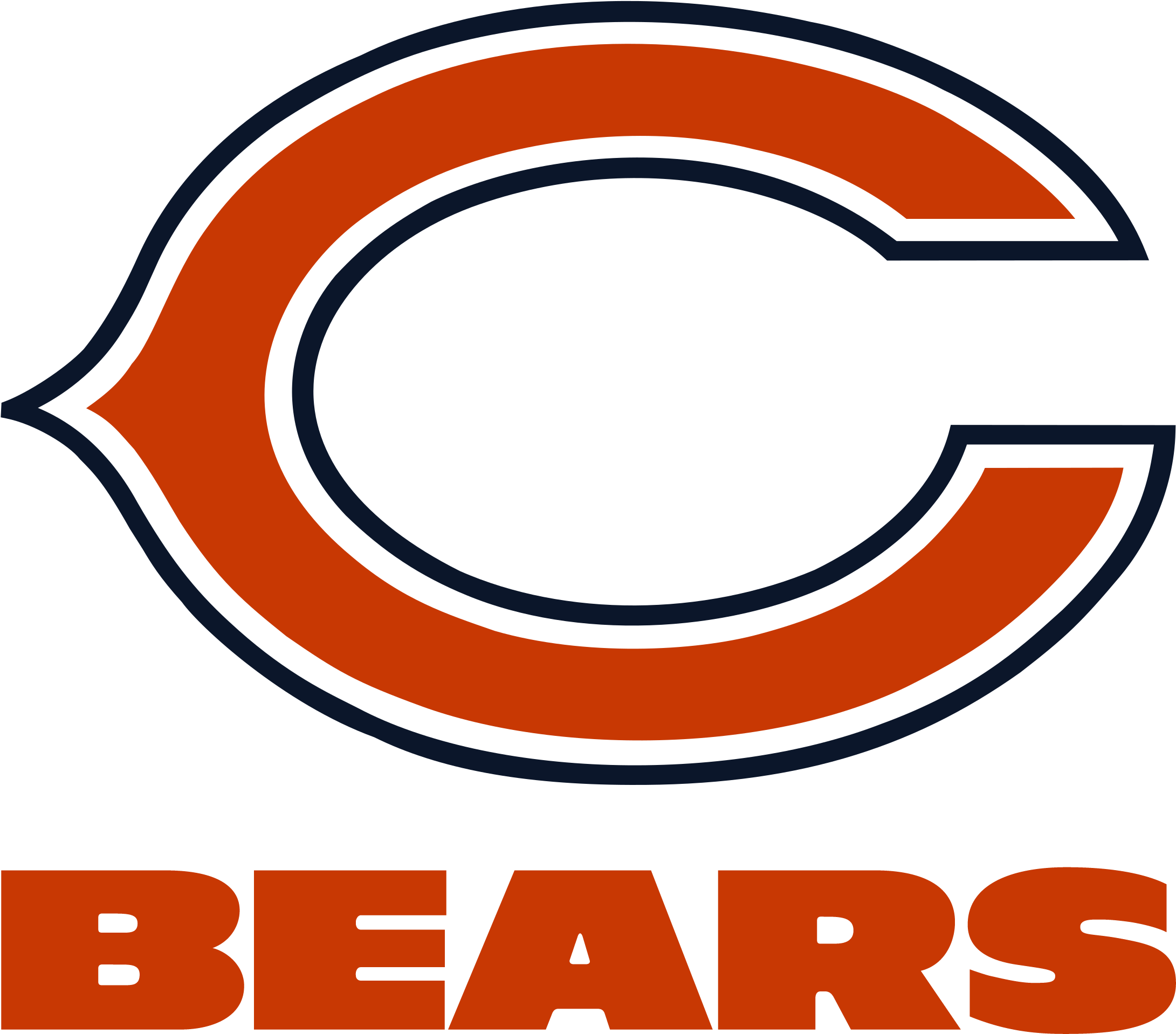 Chicago bears clipart png royalty free stock Chicago Vector Clipart - Chicago Bears Black And White Logo ... png royalty free stock