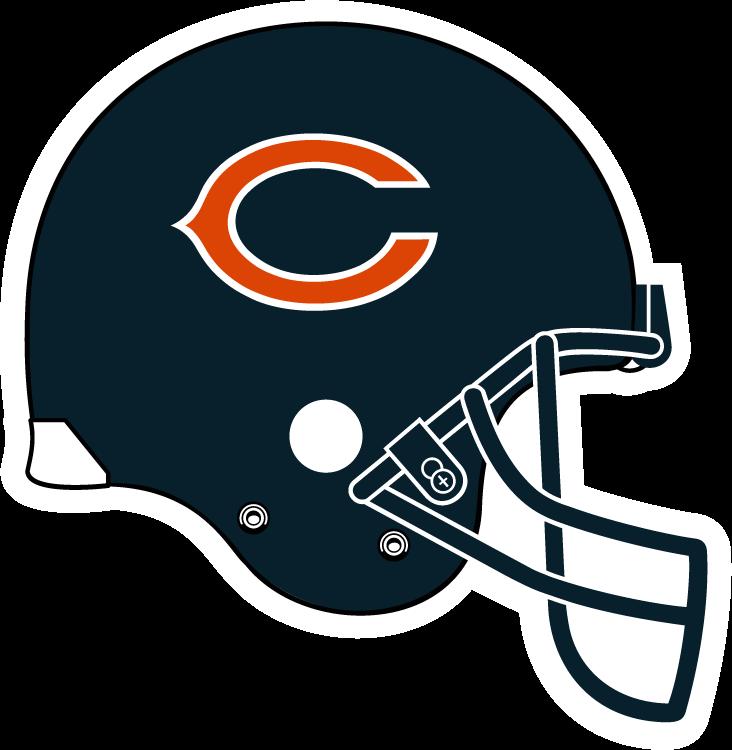 Chicago bears helmet clipart