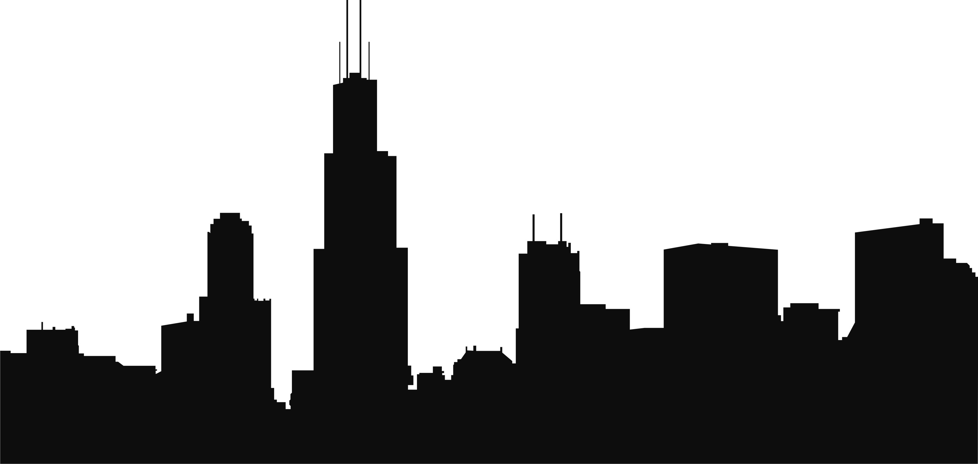 Skyline vector clipart png black and white Chicago Skyline Clipart & Look At Clip Art Images - ClipartLook png black and white