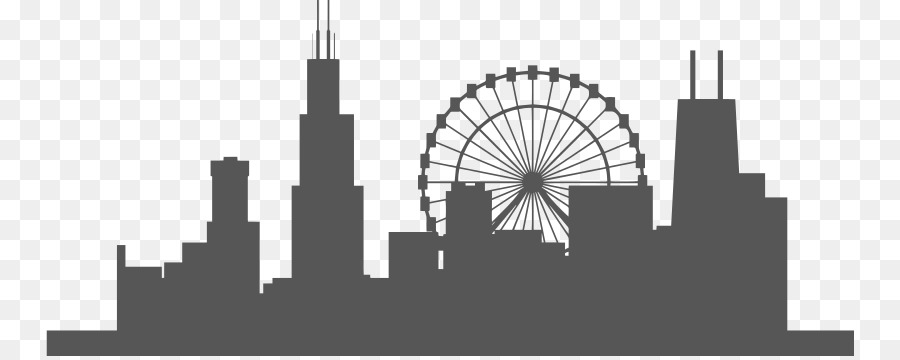 Chicago clipart skyline vector library library City Skyline Silhouette png download - 808*356 - Free Transparent ... vector library library
