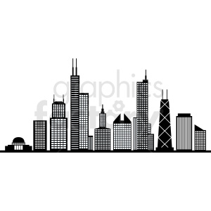 Chicago clipart skyline transparent download black and white chicago city vector skyline clipart. Royalty-free clipart #  408544 transparent download