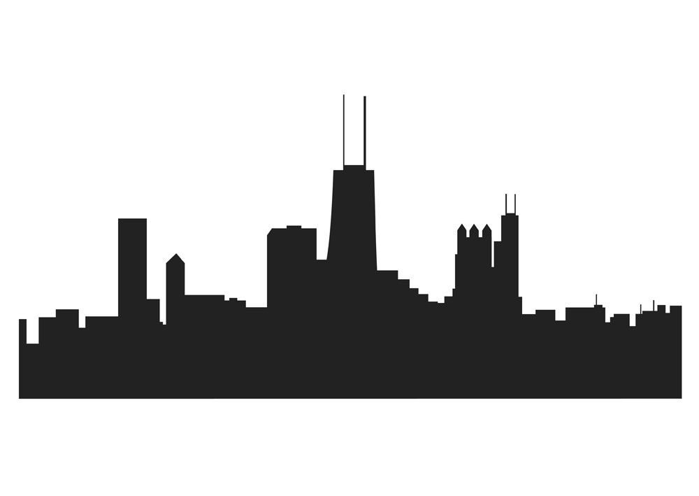 World city lines clipart silhouette clip black and white download Chicago Skyline Drawing 854 - ClipArt Best - ClipArt Best | Projects ... clip black and white download
