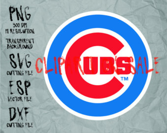 Chicago cubs logo clipart 1908 vector clip art free Chicago cubs svg | Etsy clip art free