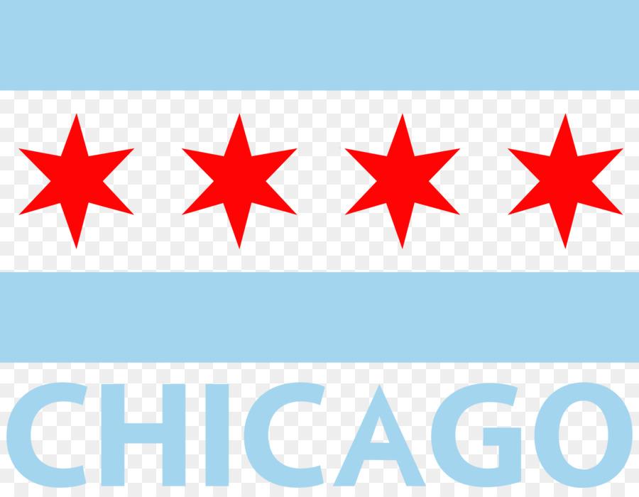 Chicago flag clipart