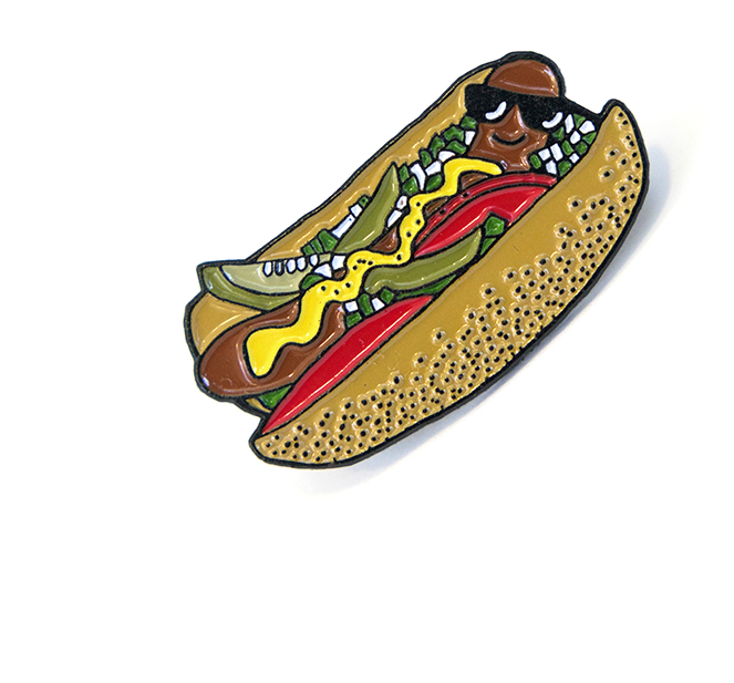 Chicago hot dogs clipart
