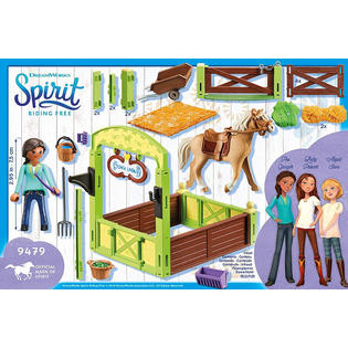 Chickalinda clipart banner library library Playmobil Spirit Riding Free Horse Box \'Pru & Chica Linda\' 9479 (for ... banner library library
