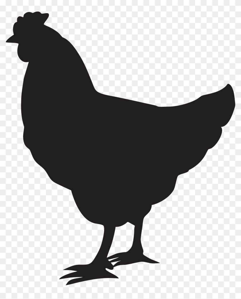 Chicken clipart black svg transparent download Black And White Stock Chicken Clipart Png, Transparent Png ... svg transparent download