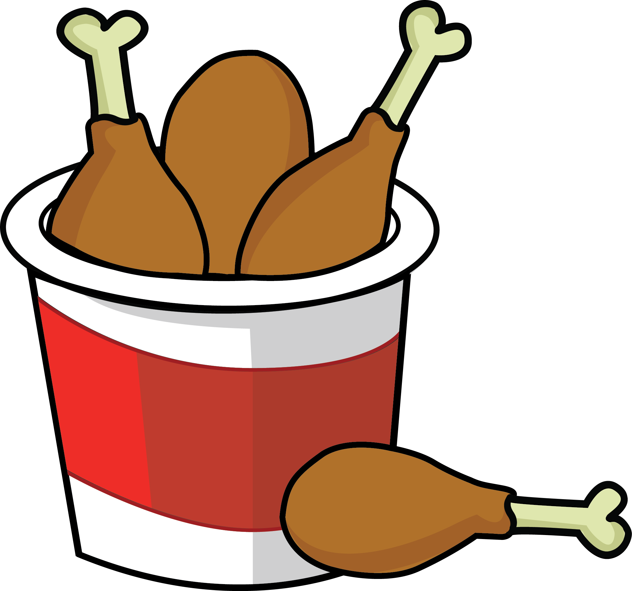 Chicken bucket clipart image transparent Awesome Chicken Clipart - Bucket Of Fried Chicken Clipart ... image transparent