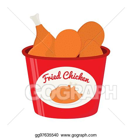 Chicken bucket clipart image library library Vector Clipart - Bucket of fried chicken, tasty fast food. cartoon ... image library library