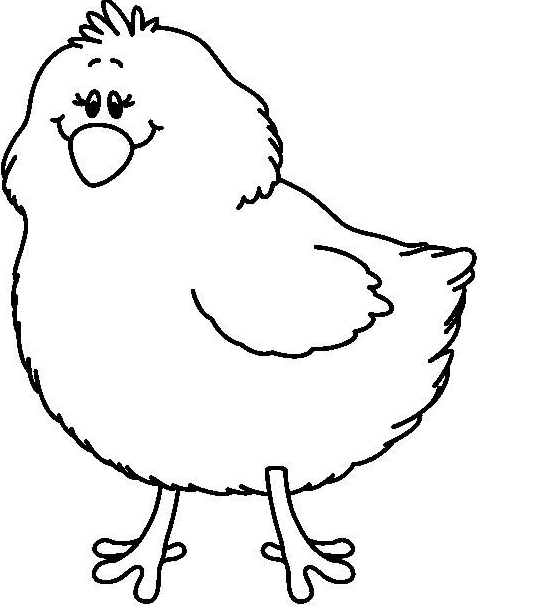 Chicken clipart outline vector library library Chick Clipart Black And White | Free download best Chick Clipart ... vector library library