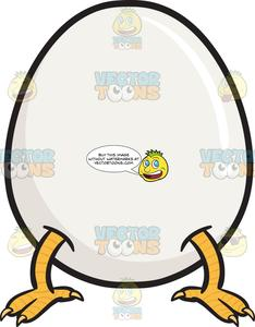 Chicken coming out of an egg clipart image library library Chicken Feet Coming Out Of Whole Egg Emoji image library library