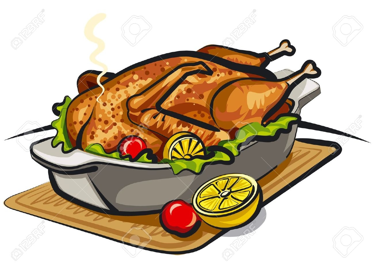 Cooked chicken clipart vector free stock Chicken dish clipart 4 » Clipart Station vector free stock