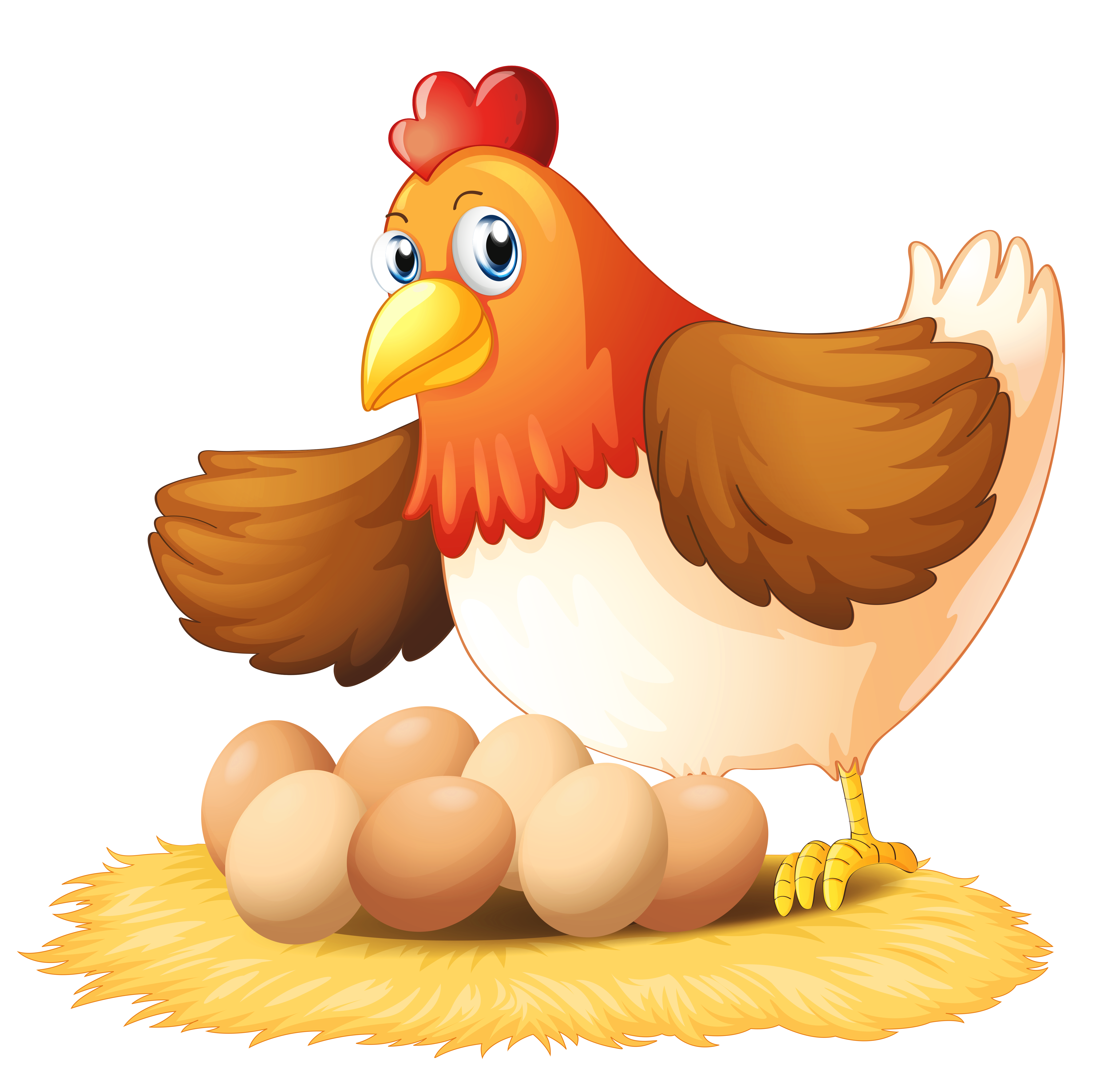 Turkey cage clipart free Hen with Eggs PNG Clipart | Gallery Yopriceville - High-Quality ... free