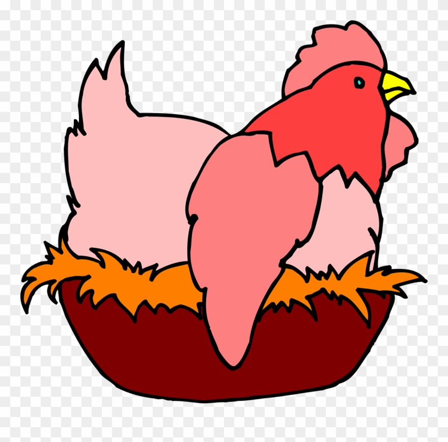 Chicken on nest clipart graphic library Red Hen On A Nest Clipart (#114723) - PinClipart graphic library