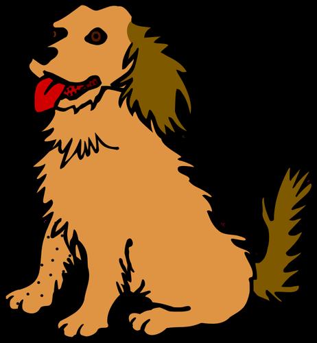 Chien clipart banner free download Vector images clipart de chien avec langue rouge | Vecteurs publiques banner free download