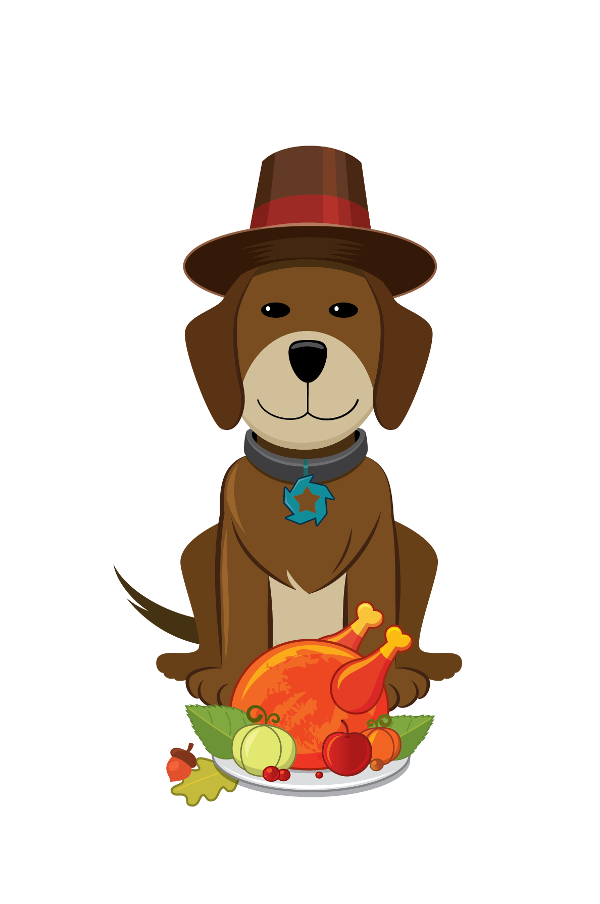 Turkey dog free clipart png freeuse 28+ Collection of Thanksgiving Puppy Clipart | High quality, free ... png freeuse