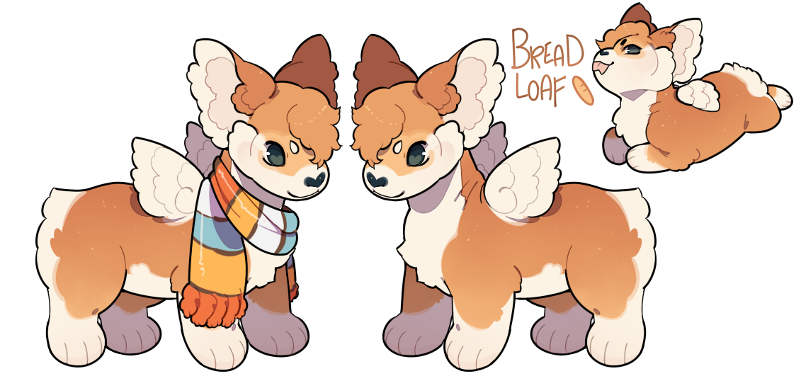 Corgi pumpkin clipart graphic freeuse library Bread Loaf Plush Dragon by stormcat on DeviantArt graphic freeuse library