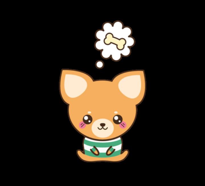 Kawaii dog clipart png freeuse stock dog puppy perro chihuahua cute kawaii... png freeuse stock