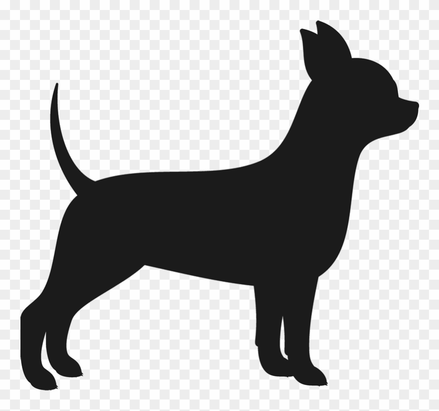 Chihuahua silhouette clipart clipart black and white stock Vector Royalty Free Chiwawa Drawing Chiweenie - Chihuahua Silhouette ... clipart black and white stock