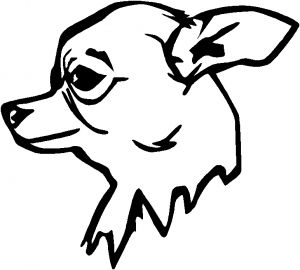 Chihuahua tongue out clipart black and white clipart transparent stock Outline of Chihuahua to Draw | Go Back > Pics For > Mean Wolf Head ... clipart transparent stock